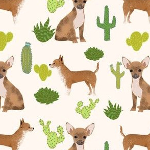 chihuahua dog sweet teacup cute dogs short haired chihuahua dogs cactus trendy neutral kids baby dog fabric