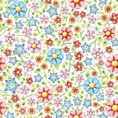 Ditsy Millefiori Floral