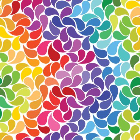 Happy Drops fabric by lunastone_crafts on Spoonflower - custom fabric