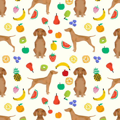 vizsla dog fruits cute dogs pet dogs fabric sweet dog fabric by petfriendly on Spoonflower - custom fabric