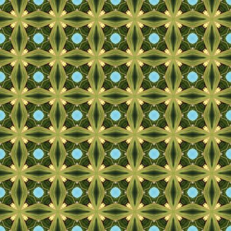 Green Ribbon Crosses fabric by ginascustomcreations on Spoonflower - custom fabric
