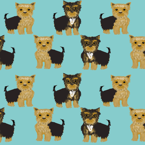 yorkie yorkshire terrier cute dog dogs pets pet dog  fabric by petfriendly on Spoonflower - custom fabric