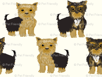 yorkshire terrier cute yorkie dog pet pets dog fabric