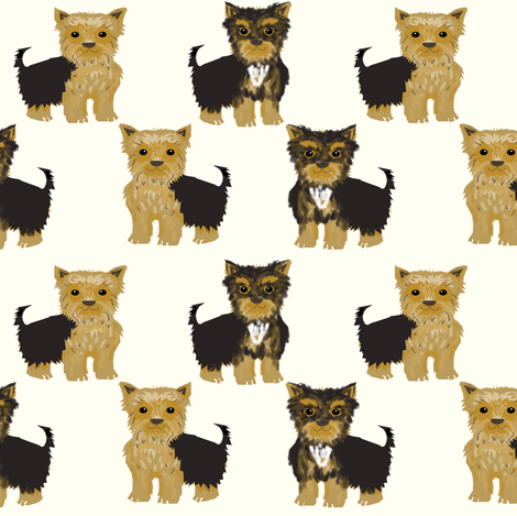 yorkshire terrier cute yorkie dog pet pets dog fabric fabric by petfriendly on Spoonflower - custom fabric