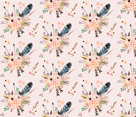 Boho Pink in Pink fabric by shopcabin on Spoonflower - custom fabric