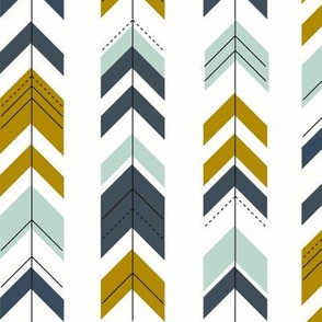 Arrows - mustard mint navy || by sunny afternoon