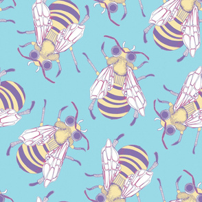 Giant Bee in Turquoise