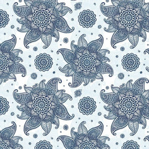 Blue mehndi