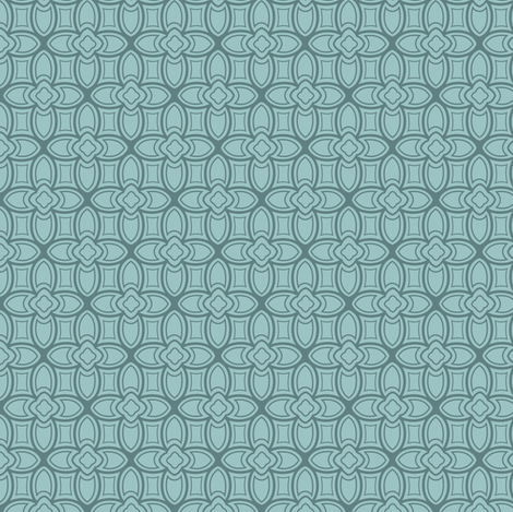 Geometric nouveau fabric by lburleighdesigns on Spoonflower - custom fabric