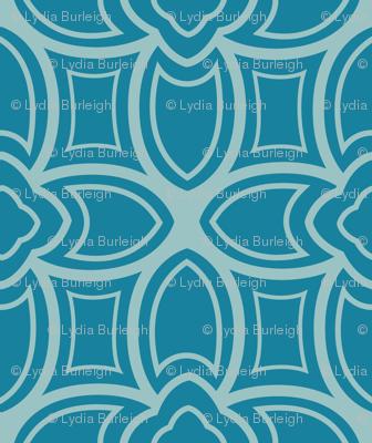 Geometric Nouveau in blues