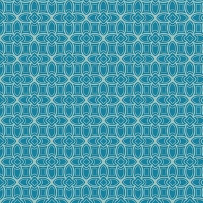 Geometric Nouveau in blues