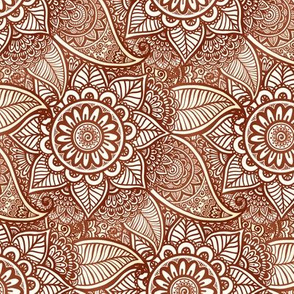 Mehndi flowers pattern