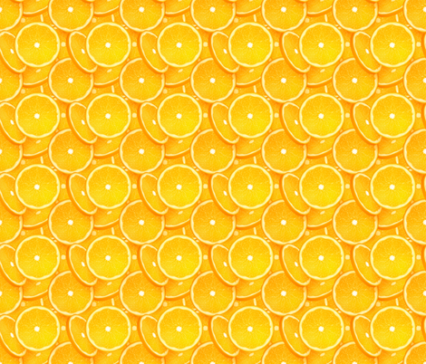 Orange slices pattern fabric by art_of_sun on Spoonflower - custom fabric