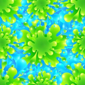 Blue-green splashes