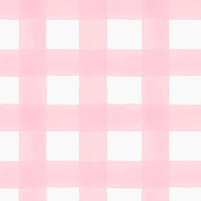 Watercolor Buffalo Check // Light Pink