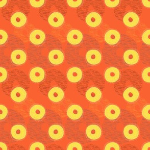 Pineapple Rings on red