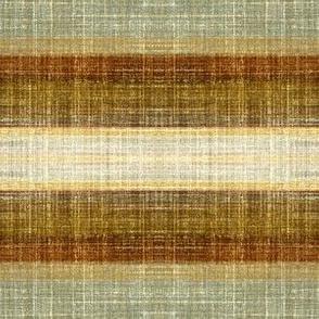 Tobacco Stripe Faux Linen