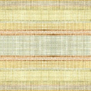 Faux Linen Stripe  in Sand and Paprika