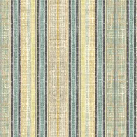 Celadon faux linen ticking stripe fabric by joanmclemore on Spoonflower - custom fabric