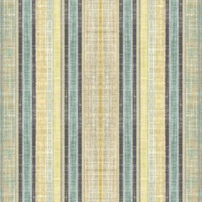 Celadon faux linen ticking stripe
