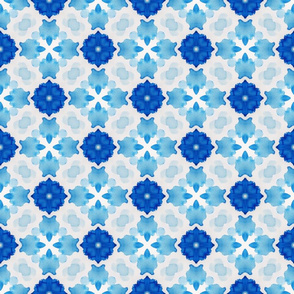 Watercolor Geometry Blue