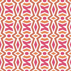 Pink Tribal Geometric