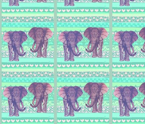 Tattoo Elephants fabric by floramoon on Spoonflower - custom fabric