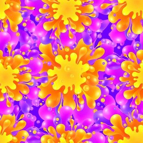 Orange-violet splashes