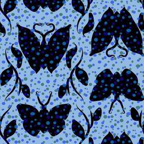 Light Blue and Blues Butterfly Column