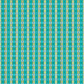 Aqua/Yellow Plaid