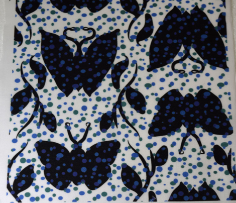 Black and Blue Butterfly Column