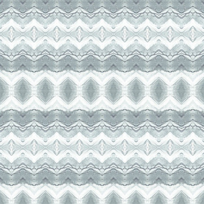 Abstact Tribal Print  Gray and White