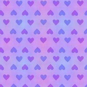 Hearts Small Purple