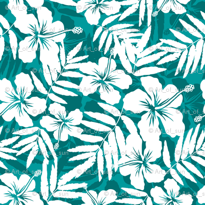 Turquoise tropic flower