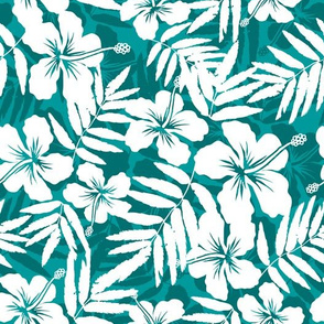Turquoise tropic flower