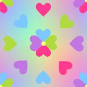 Hearts Rainbow