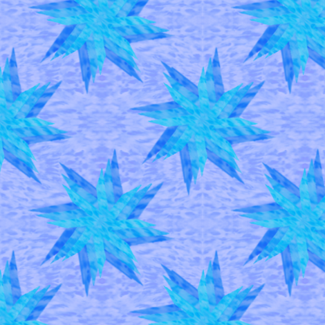 Layered Star Blue fabric by karwilbedesigns on Spoonflower - custom fabric