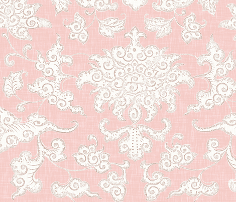 Paradise // Blush fabric by willowlanetextiles on Spoonflower - custom fabric
