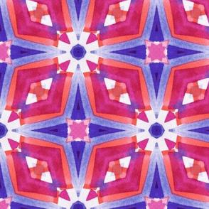 Watercolor Geometry Mod Pink