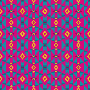 Colorful Pink Tribal Geometric