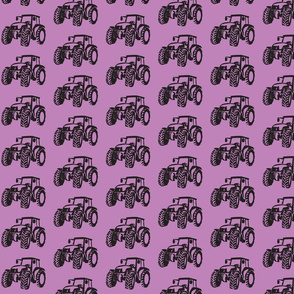 Tractors Lilac with Black