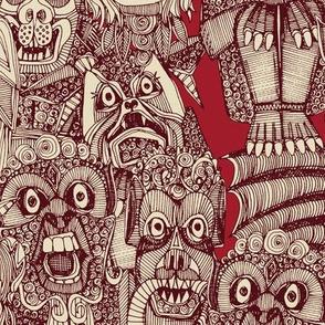 gargoyles red