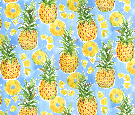 Pineapple Summer fabric by jillbyers on Spoonflower - custom fabric