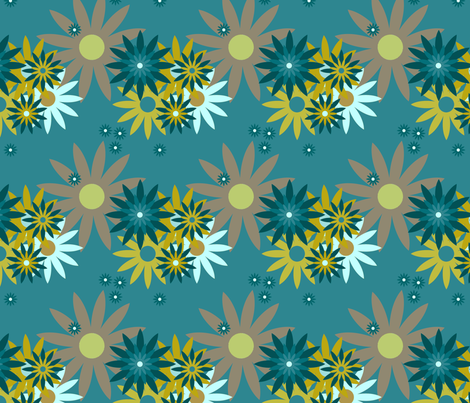 Flowers on Solid June fabric by lclarke522 on Spoonflower - custom fabric