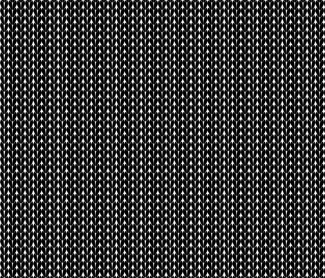Knit Stitches - Black - Knitter's Kitchen fabric by knitterskitchen on Spoonflower - custom fabric