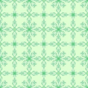 Tulip Pattern Green