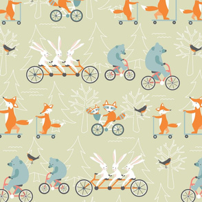 animal_family_bike_ride