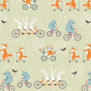 animal_family_bike_ride