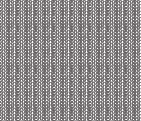 Knit Stitches - Grey- Knitter's Kitchen fabric by knitterskitchen on Spoonflower - custom fabric