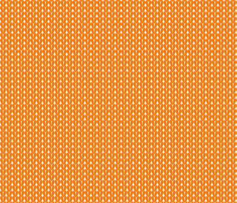 Knit Stitches - Orange - Knitter's Kitchen fabric by knitterskitchen on Spoonflower - custom fabric